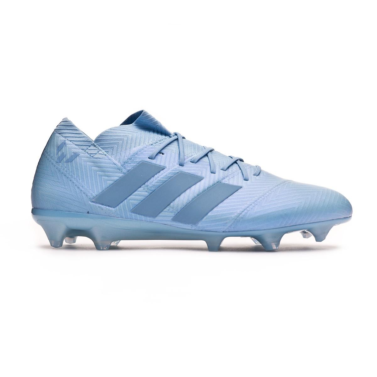 Tacchetti da Calcio Adidas Nemeziz Messi 18.1 FG Bianco Blu