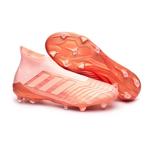 464a33801419 Boot adidas Predator 18+ FG Clear orange-Trace pink - Football store Fútbol  Emotion