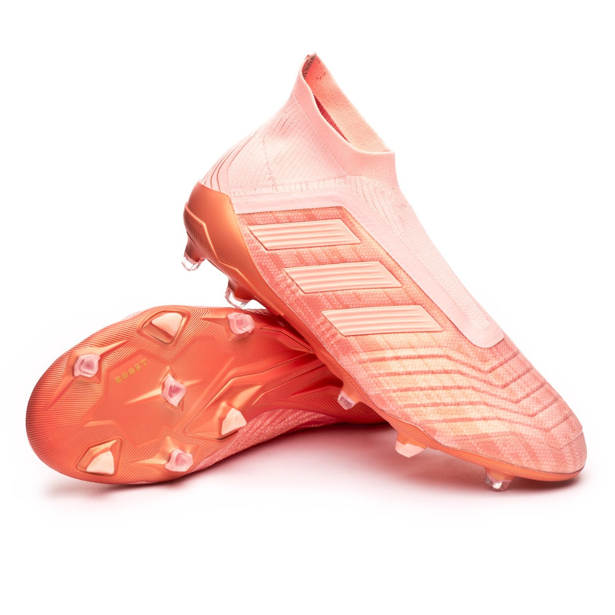 premium selection e1c3d 4c88e Chaussure de foot adidas Predator 18+ FG Clear orange-Trace pink - Boutique de  football Fútbol Emotion