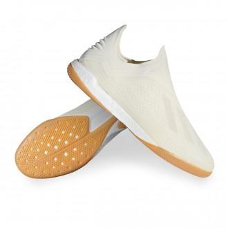 Futsal Boot  adidas X Tango 18+ IN Off white-White-Core black