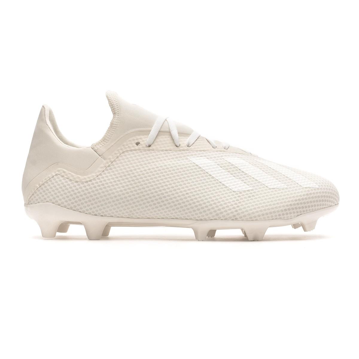 335ff81ffca Football Boots adidas X 18.3 FG Off white-White-Core black - Football store  Fútbol Emotion