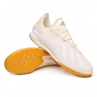 Futsal Boot  adidas X Tango 18.3 IN Off white-White-Core black
