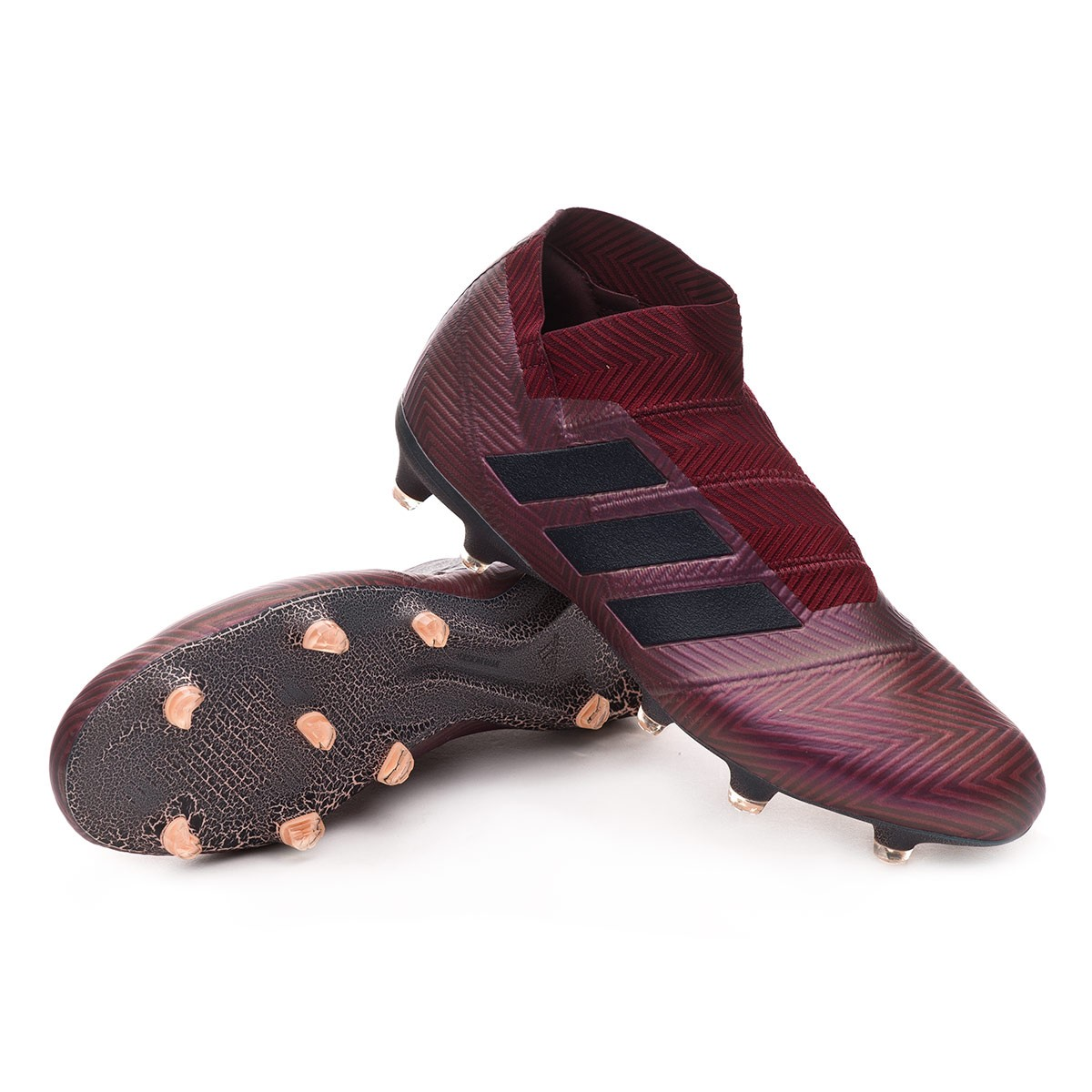 33eb989d5 adidas Nemeziz 18+ FG Football Boots. Maroon-Legend ink-Collegiate burgundy  ...