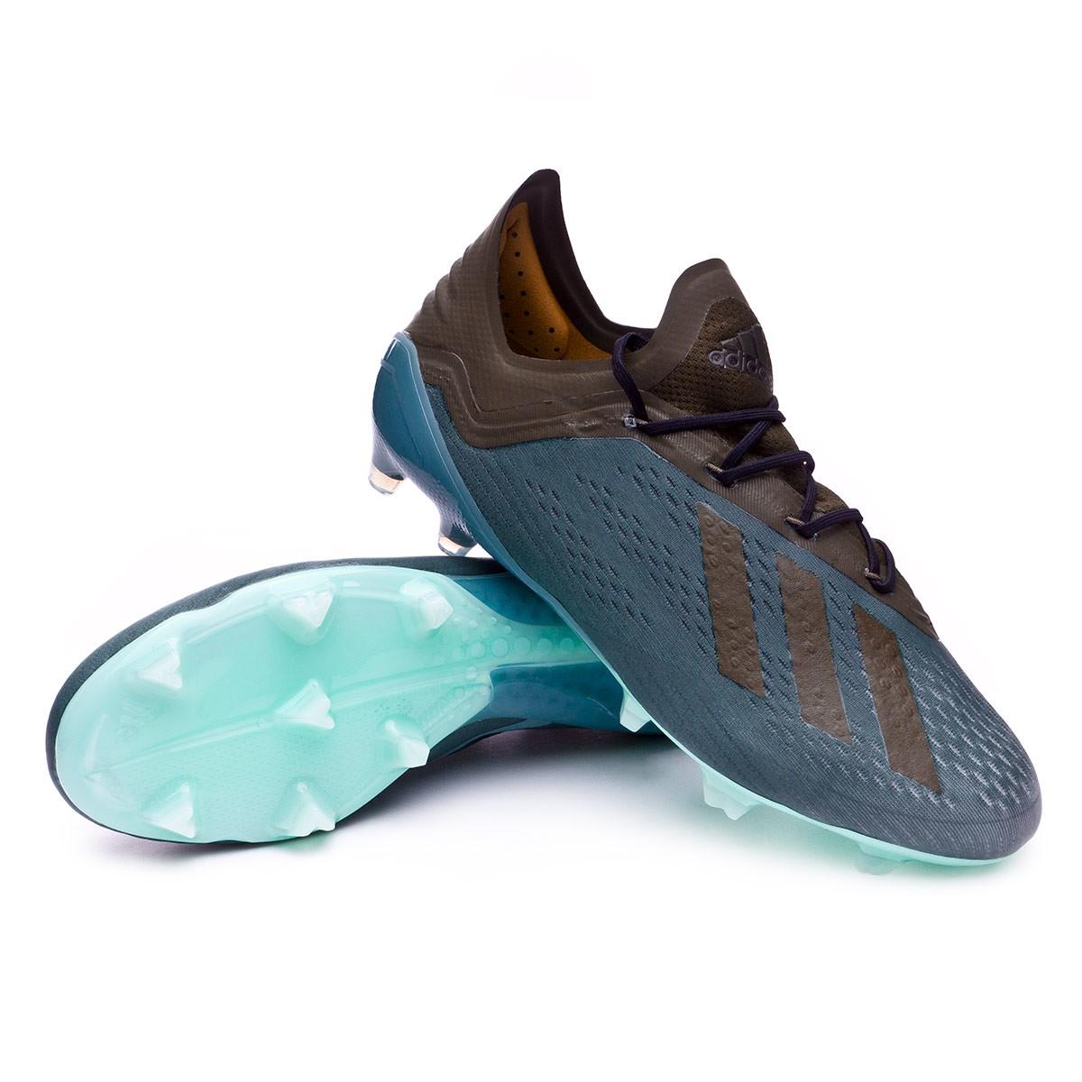 dae0eca7b08d Football Boots adidas X 18.1 FG Raw green-Night cago-Clear mint ...