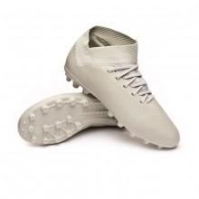 Football Boots Kids Nemeziz 18.3 AG Ash silver-White tint