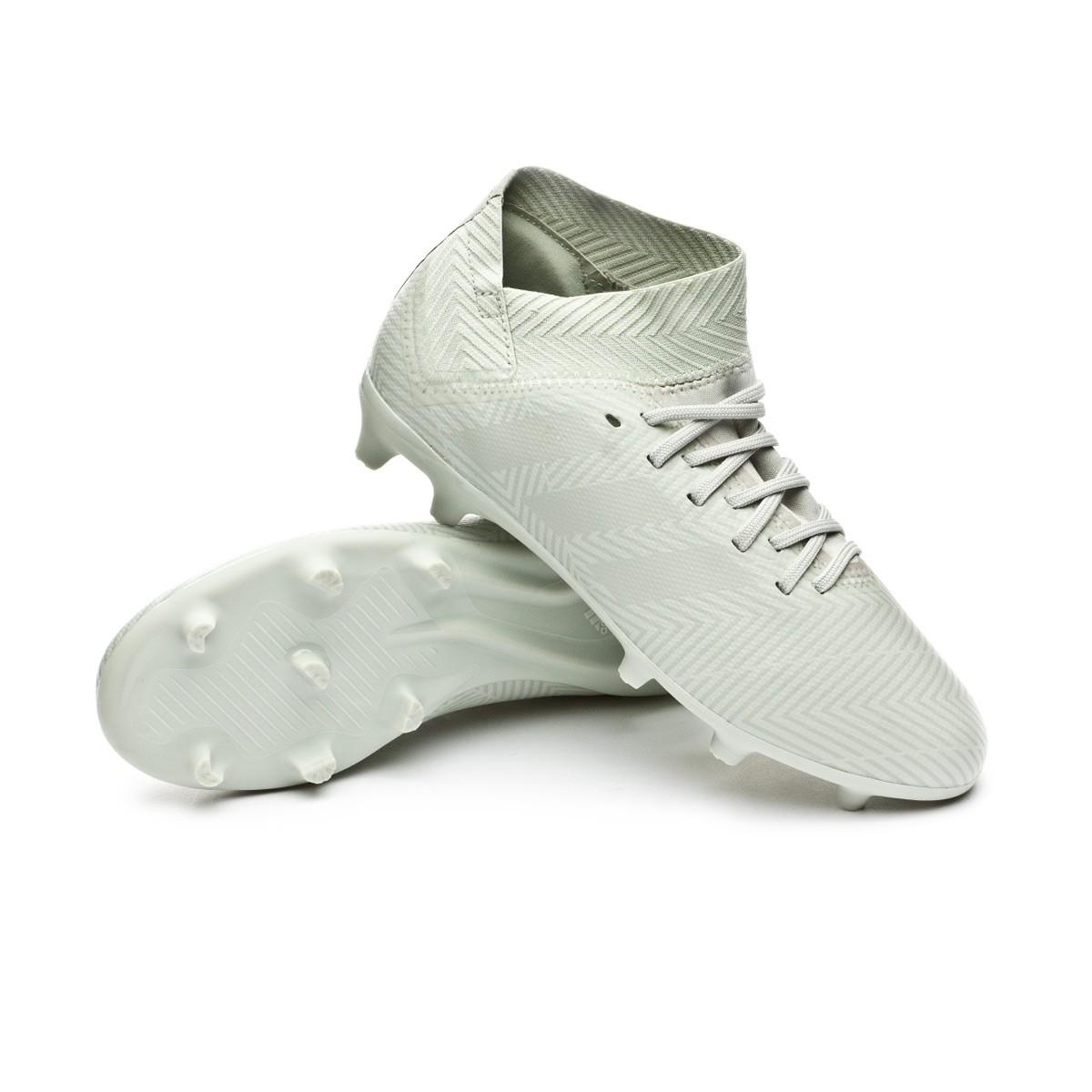 0418c39db Boot adidas Kids Nemeziz 18.3 FG Ash silver-White tint - Football ...