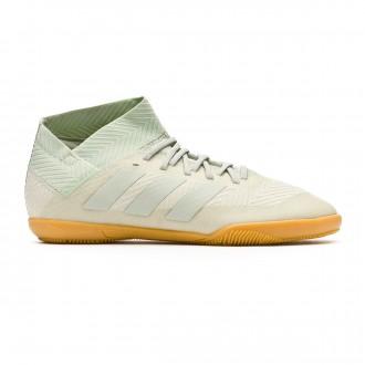 Chaussure de futsal  adidas Nemeziz Tango 18.3 IN enfant Ash silver-White tint