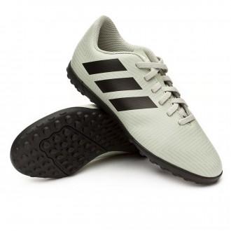 Football Boot  adidas Kids Nemeziz Tango 18.4 Turf  Ash silver-Core black-White tint
