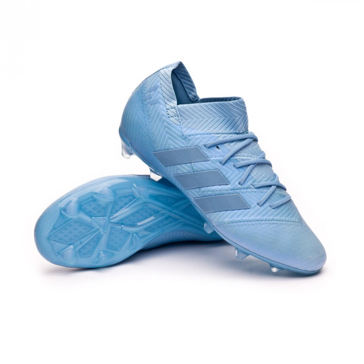 cf46aa55d Football Boots adidas Kids Nemeziz Messi 18.1 FG Ash blue-Raw grey ...