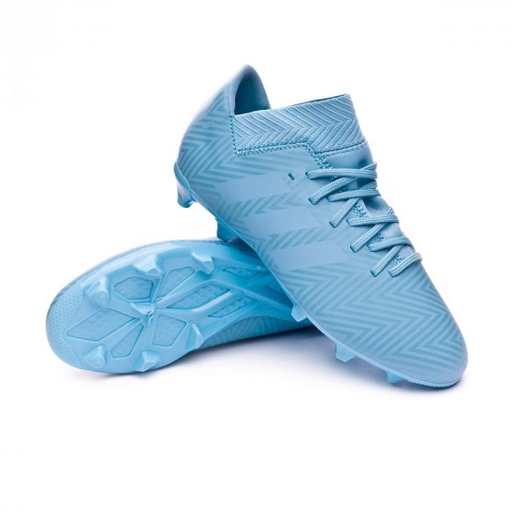 eaacfd932da80 Chuteira adidas Nemeziz Messi 18.3 FG Crianças Ash blue-Raw grey ...