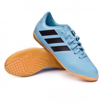 Sapatilha de Futsal  adidas Nemeziz Messi Tango 18.4 IN Niño Ash blue-Core black-Raw grey