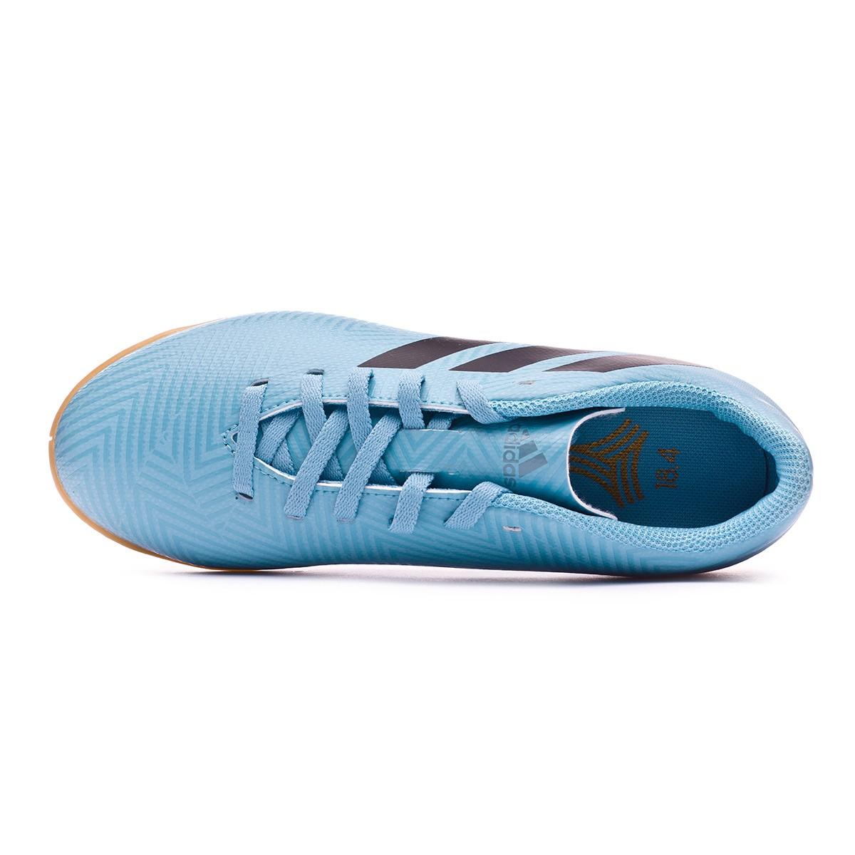 c441327569683 Futsal Boot adidas Kids Nemeziz Messi Tango 18.4 IN Ash blue-Core black-Raw  grey - Football store Fútbol Emotion