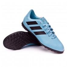 Football Boot Kids Nemeziz Messi Tango 18.4 Turf Ash blue-Core black-Raw grey