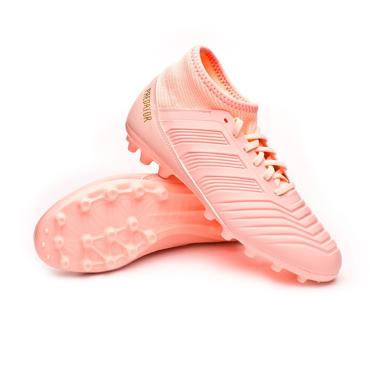 8f77ec912f55 Football Boots adidas Kids Predator 18.3 AG Clear orange-Trace pink -  Football store Fútbol Emotion
