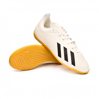 Chaussure de futsal  adidas X Tango 18.4 IN enfant Off white-White-Core black