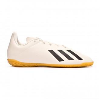 Tenis  adidas X Tango 18.4 IN Niño Off white-White-Core black