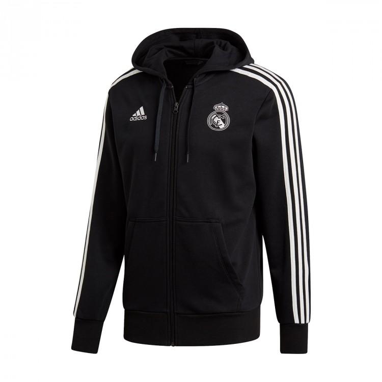 5240ce4725eb Jacket adidas Real Madrid 3S FZ Hoodie 2018-2019 Black-Core white ...