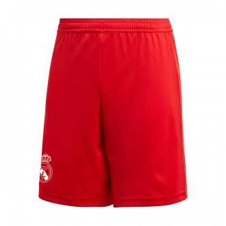 Pantaloncini  adidas Real Madrid Terza Divisa 2018-2019 Junior Vivid red