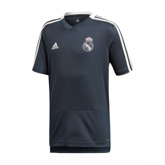 Camiseta  adidas Real Madrid Training 2018-2019 Niño Tech onix-Core white