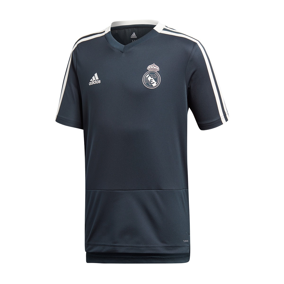 10d89745a10f8 Camiseta adidas Real Madrid Training 2018-2019 Niño Tech onix-Core white -  Tienda de fútbol Fútbol Emotion