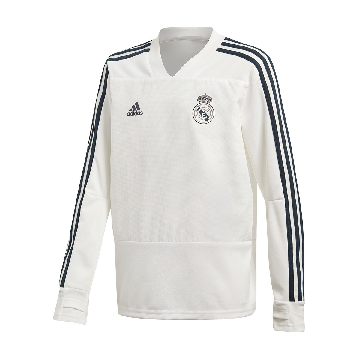 ... Sudadera Real Madrid Training 2018-2019 Niño Core white-Tech onix.  CATEGORY d5eddc32d9256