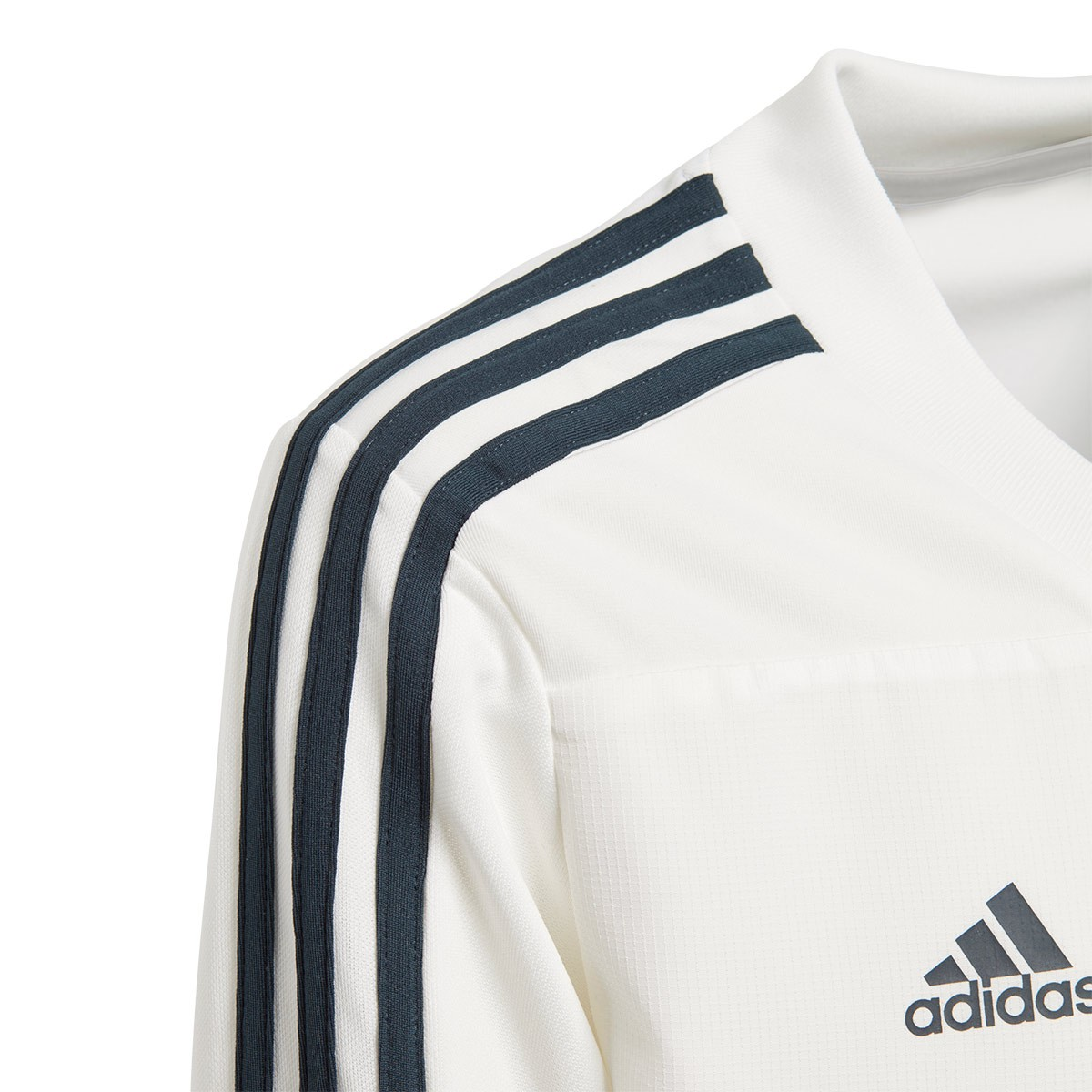 147f3cda1af1e Sudadera adidas Real Madrid Training 2018-2019 Niño Core white-Tech onix -  Tienda de fútbol Fútbol Emotion