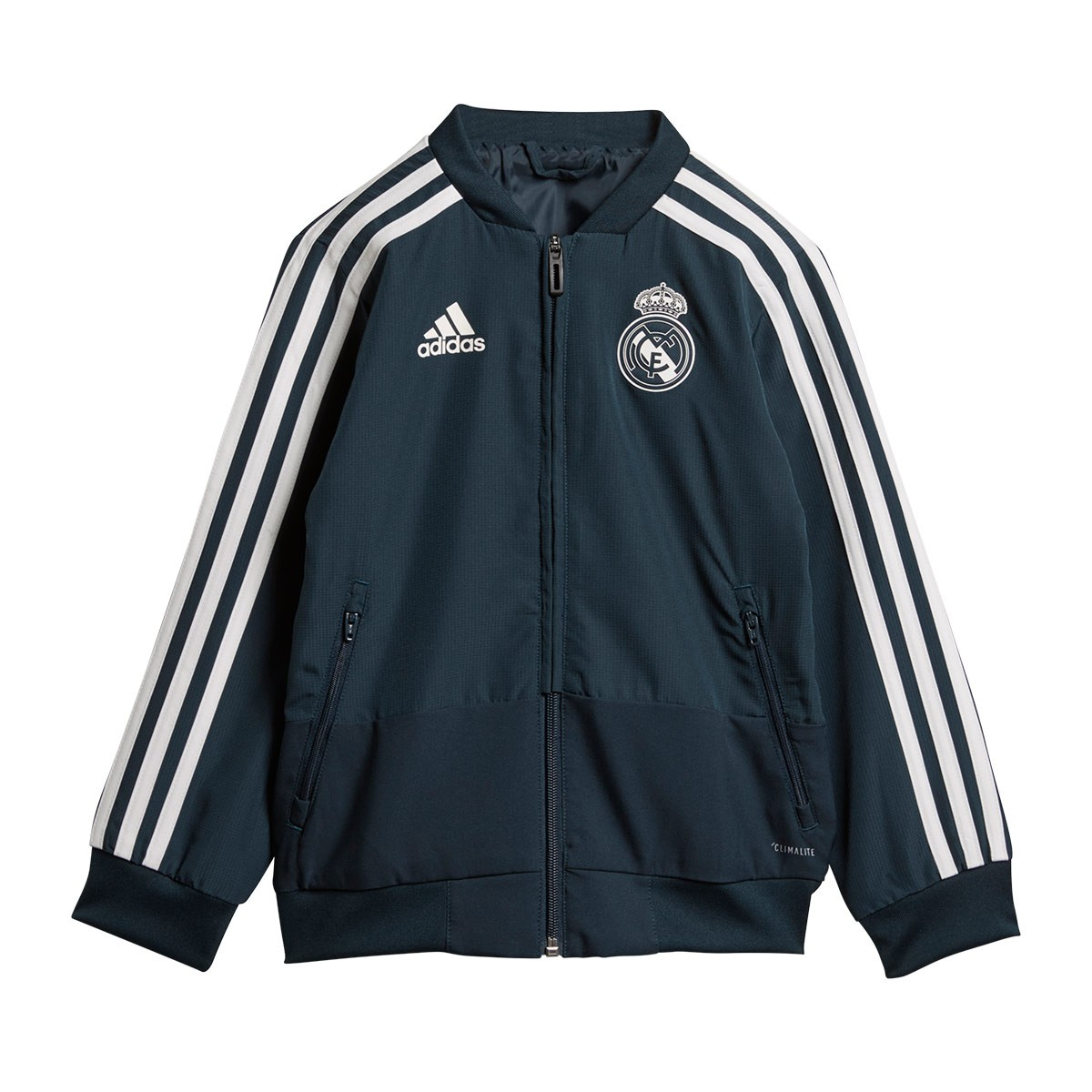 Chándal adidas Real Madrid Prematch Niño 2018-2019 Tech onix-Black ... db7dc0f558b25