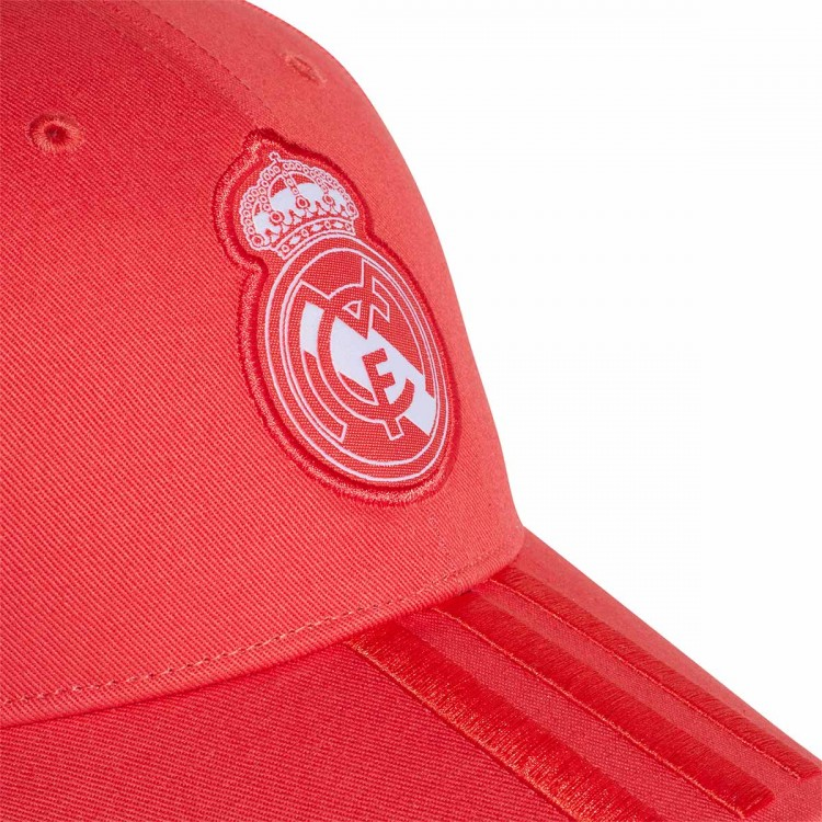 Cap adidas Real Madrid 3S 2018-2019 Real coral-Vivid red-White ... 5d3d48701b1