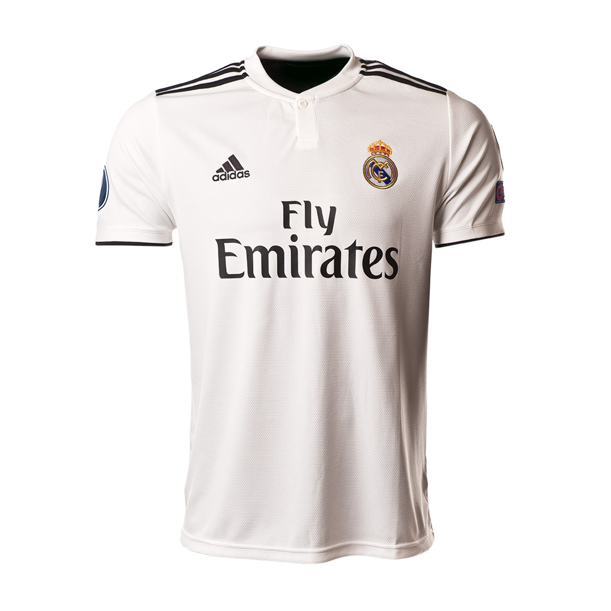new product e133d f90f8 Camiseta Real Madrid UCL Primera Equipación 2018-2019 Core white-Black