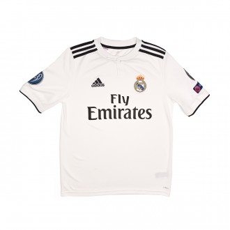 Camiseta  adidas Real Madrid UCL Primera Equipación 2018-2019 Niño Core white-Black