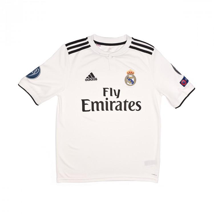 Camiseta adidas Real Madrid UCL Primera Equipación 2018-2019 Niño ... 00d4d3ddd849d