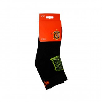 Pack  Jim Sports 3 Pares de calcetines Media Caña Selección Española Negro