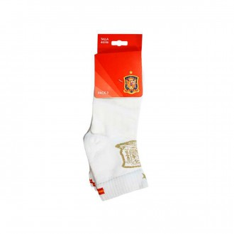 Pack  Jim Sports 3 Spanish Federation Low-Cut Sock White