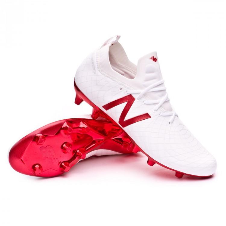 e2473e0cfc63f Chuteira New Balance Tekela PRO FG Branco-Vermelho - Loja de futebol ...