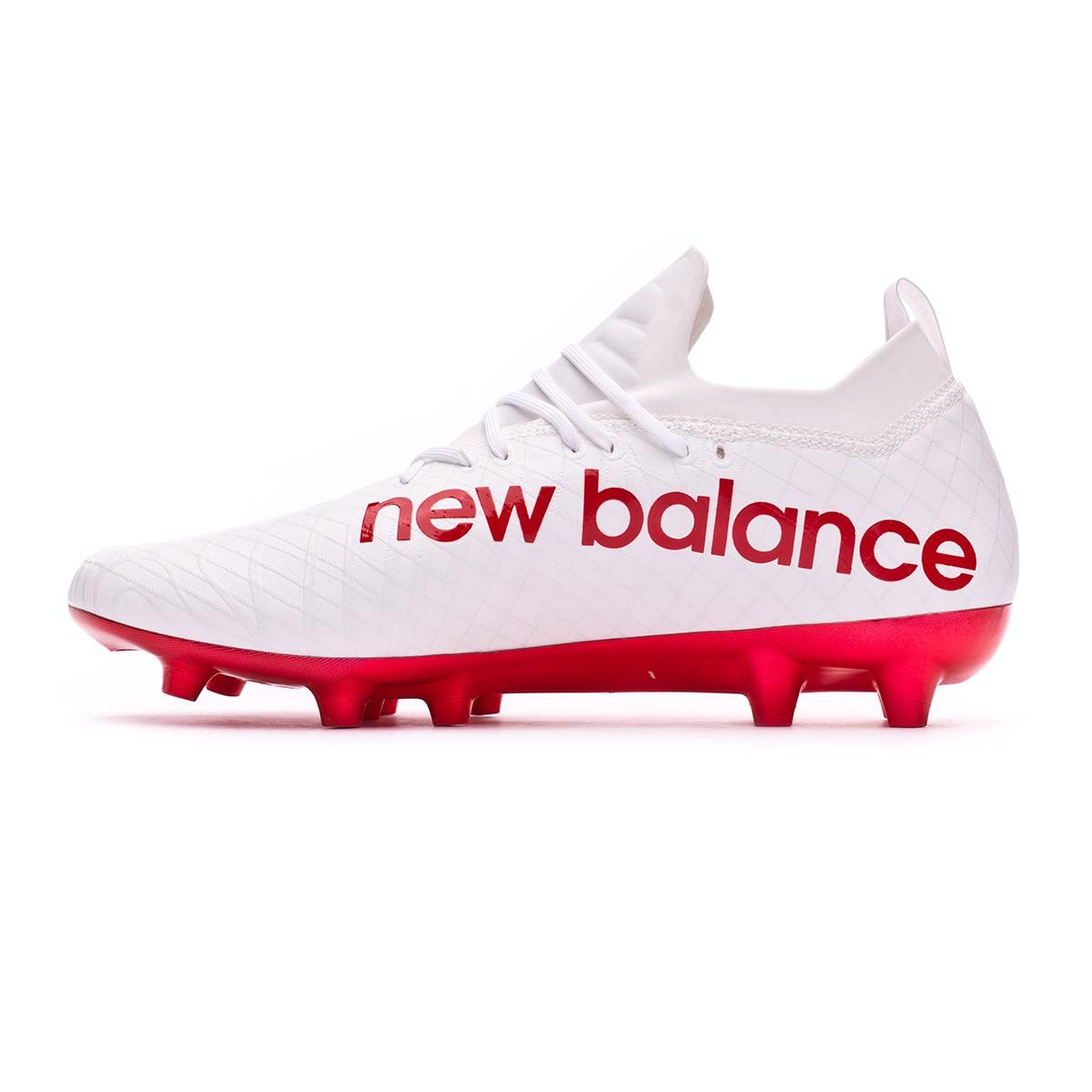 promo code 408c1 2ab8b Chaussure de foot New Balance Tekela PRO FG Blanc-Rouge - Boutique de  football Fútbol Emotion