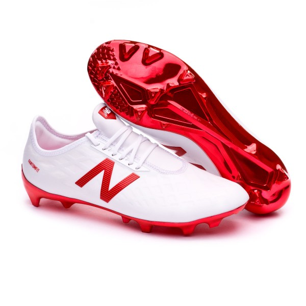362ad3eee5c7 Football Boots New Balance Furon PRO FG White-Red - Football store Fútbol  Emotion