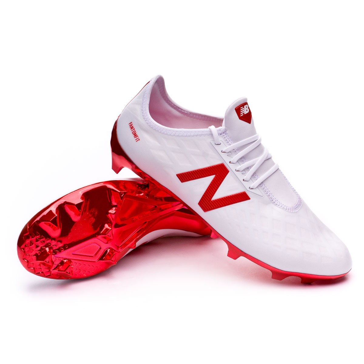 6a5c7941414 Football Boots New Balance Furon PRO FG White-Red - Tienda de fútbol ...