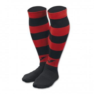 Football Socks  Joma Zebra II Black-Red