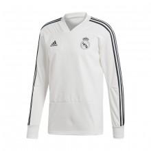 Sweatshirt adidas Real Madrid Training 2018-2019 White-Tech onix ... 6f31e87b4