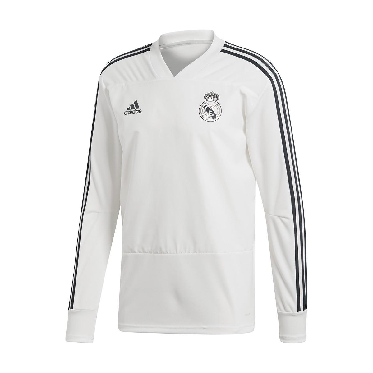187edd5688881 Sudadera adidas Real Madrid Training 2018-2019 White-Tech onix - Tienda de  fútbol Fútbol Emotion