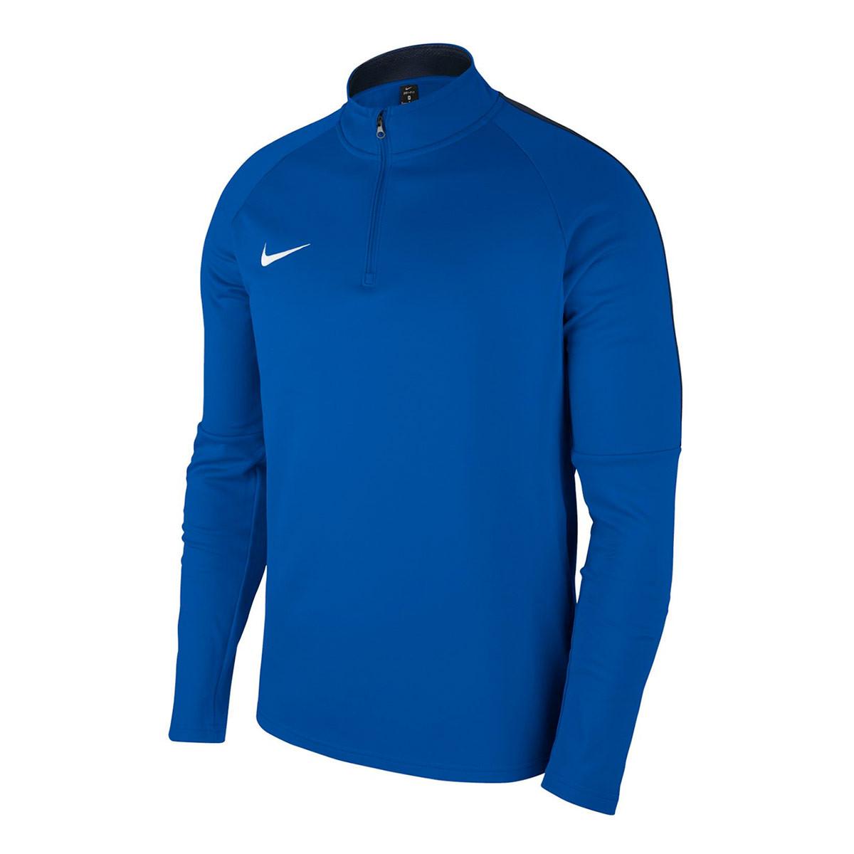 f59050ceb55 Nike Kids Academy 18 Drill Sweatshirt. Royal blue-Obsidian-White ...