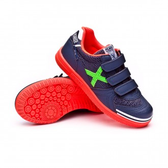Futsal Boot  Munich Kids G3 Velcro Blue-Orange-Green