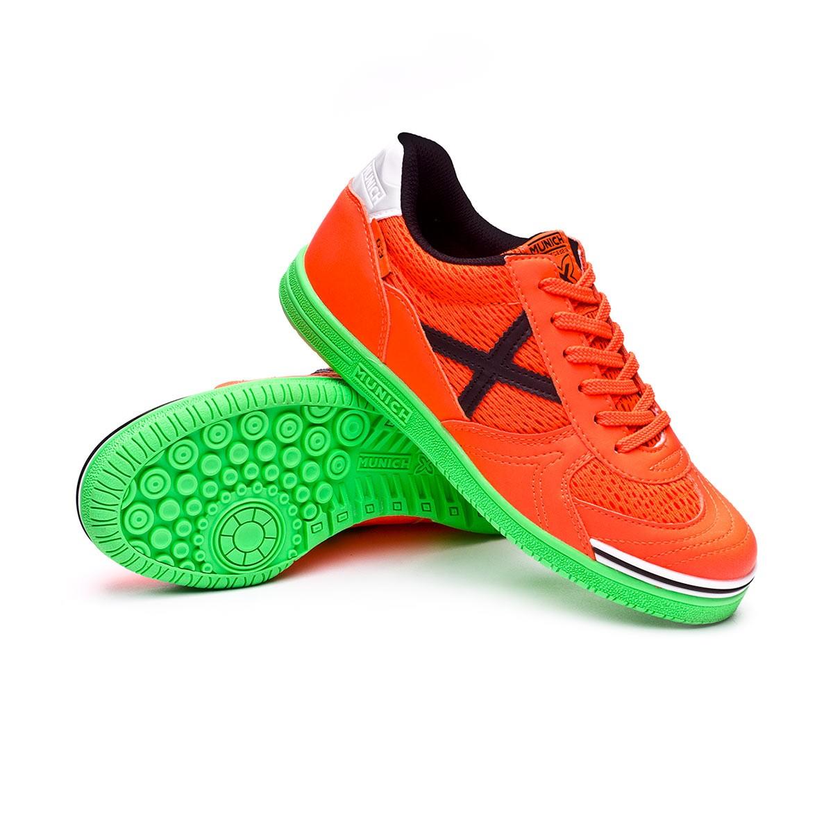 2019 nuevos productos Zapatilla Munich G3 Naranja Verde