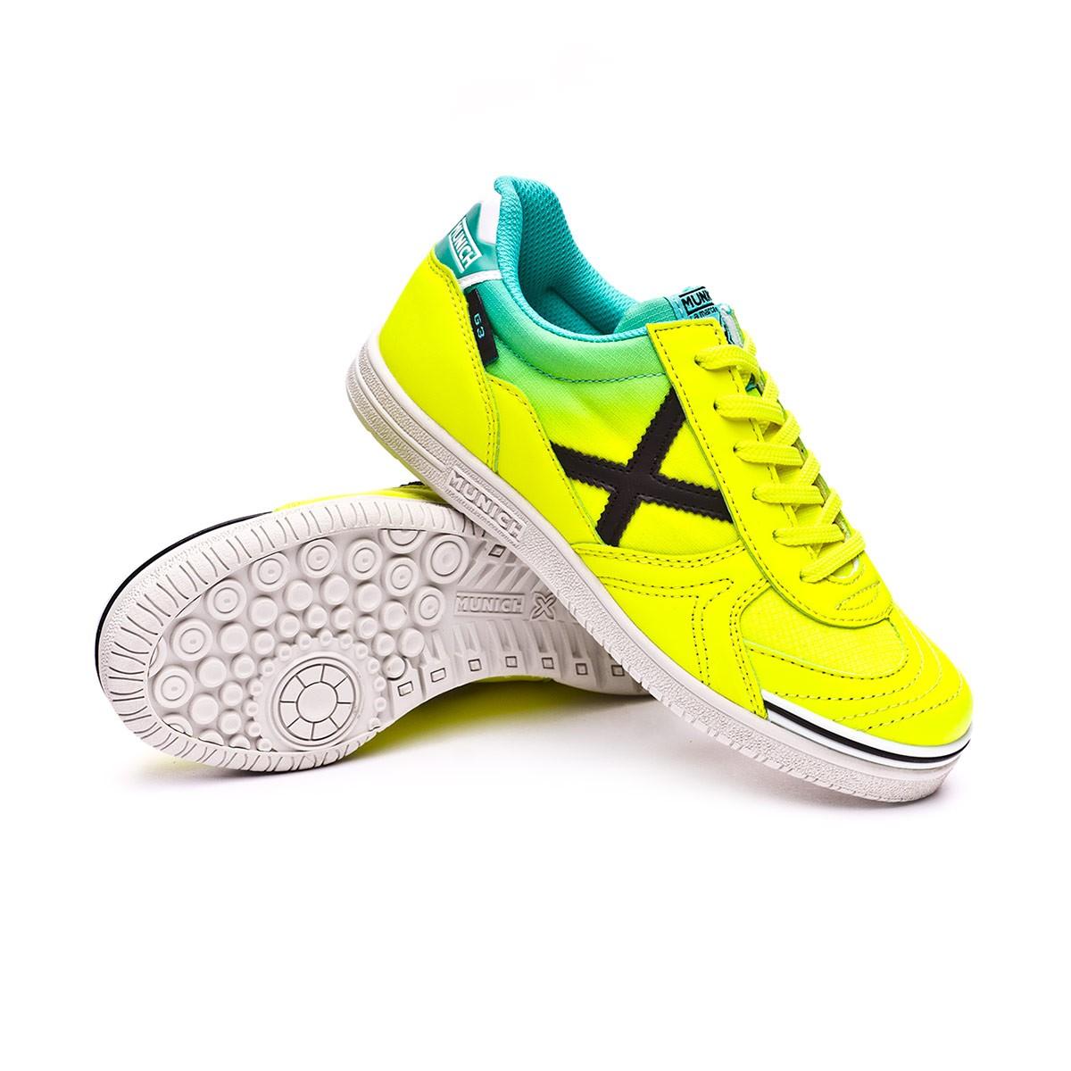 29e10897565 Futsal Boot Munich Kids G3 Fluorescent yellow - Tienda de fútbol ...