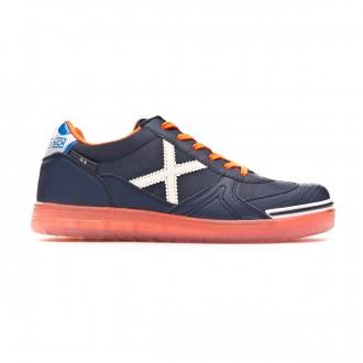 Futsal Boot Munich Kids G3 Glow  Navy blue-Orange