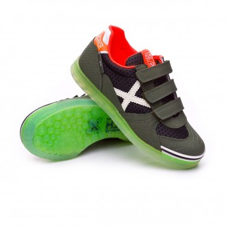 Futsal Boot  Munich Kids G3 Glow Velcro Green
