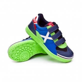 Futsal Boot  Munich Kids G3 Ice Velcro Blue-Green