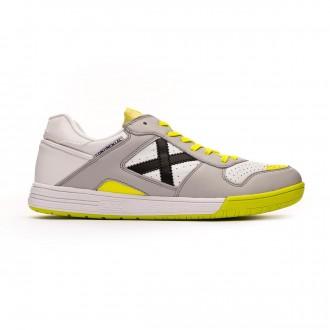 Chaussure de futsal Munich Continental Blanc-Gris