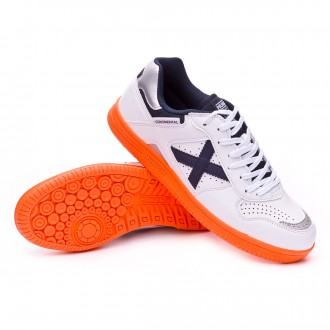 Futsal Boot  Munich Continental V2 White-Navy blue-Orange