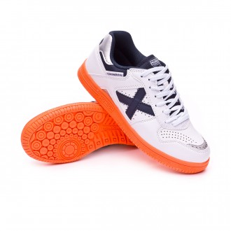 Futsal Boot  Munich Kids Continental V2  White-Navy blue-Orange